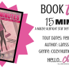 BOOK TOUR: 15 MINUTES by Larissa Reinhart