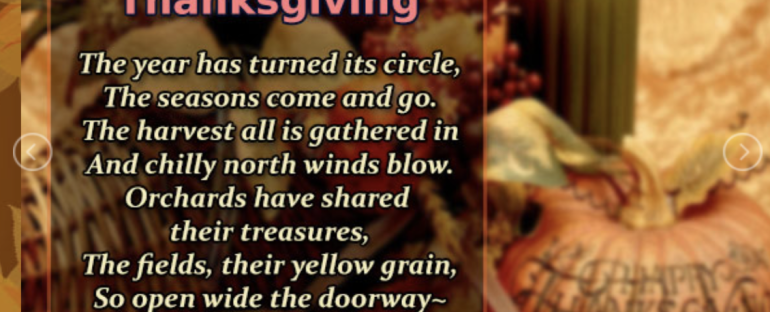 Happy Thanksgiving 2017- Enjoy the GIFt of Today!